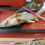 見晴 - あゆそばセット(鮎塩焼き)