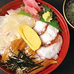 魚の棚食堂 - 魚の棚丼(鯛 蛸 穴子