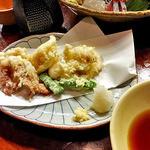 旬菜 籐や - 千葉産 赤いか天ぷら