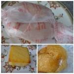 パルファン - ◆上・右下:ミルキー(120円)・・これは甘いパンでした(^^;) 中のミルククリームがかなり甘くて・・甘党さん向けですね。 左下:キュービックフロマージュ(80円)・・チーズの風味は弱いかしら。