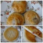 パルファン - 上:プチレーズン(1個50円)・・レーズンは少なめですが普通に美味しいですよ。 下:枝豆とチーズのお焼き(160円)・・クリームチーズが入っていますが、枝豆風味はあまりしませんね