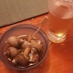 しきの - お通しのバイ貝
