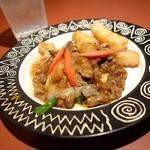 中国酒家くうくう - 2015年1月 ポテトと牛肉のXO醤炒め。ハーフサイズだったような…