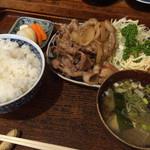 39238993 - 豚肉生姜焼き定食(¥950+税)