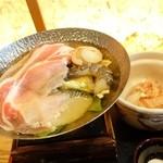 銀杏 - 2015年1月 ランチ(舞妓飯)の鍋。出汁がおいしかったです♪