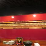 六本木 福鮨 - カウンターバックの火消し纏の装飾。先々代からの品物です。