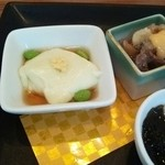 39243192 - 枝豆豆腐  わさびもずく  鮮魚の南蛮漬け