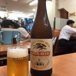 日高屋 - 中瓶ビール