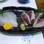 酒彩ノ館 繁稲 - 平目、鰹塩たたき
