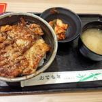 マルハのカルビ丼 - もち豚丼大盛り