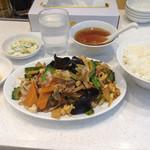 キングチャイナ - 定食-ゴーヤと木耳の炒め、、だったかな?