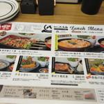 焼とりの八兵衛 - メニューの中から博多焼き鳥重1480円を注文、ただこの日は平日だったんでランチメニューが200円引きで1280円になってました。