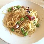 トリニティー - 枝豆のペペロンチーノです(≧∇≦) 美味しかったです。