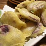 うさぎや - 紫イモの天ぷら