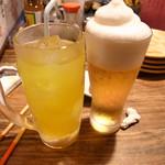 うさぎや - フローズンビールとパッションフルーツドリンク