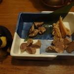 鶏鬨 - 鶏の味噌漬け盛合せ