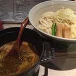 ほそ道 - カレーつけ麺(大盛)〆ご飯付
