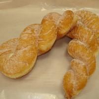 双葉サービスエリア(下り線)パン工房ふたば - ドーナツシュガーをまぶしたツイストドーナツ