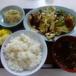 大集閣 - 【H27.6.22】回鍋肉片定食700円。