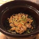 むろまち 加地 - 赤貝の炊き込みご飯