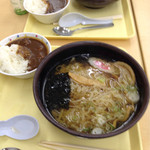 佐野サービスエリア(上り線) スナックコーナー - 佐野ラーメン+ミニカレー