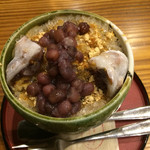 豆とくるみ - くるみもちのかき氷¥690☆小さいサイズ ¥-100☆アイスなし¥-100☆で¥490也。好みで選べるのが嬉しいです(^^)