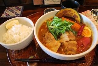 奥芝商店 八王子田代城 - 国産豚角煮と大根1550円(国産豚角煮、大根、いんげん+基本具材)