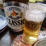 とりあえず逢海 - 瓶ビールはサッポロクラシック