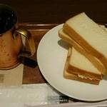 上島珈琲店 - モーニング Eセット(アイスコーヒー S   タマゴサンド)  ¥510