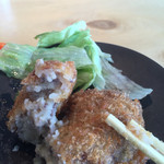 鹿屋アスリート食堂 - ダチョウ肉のコロッケ