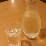 天喜代 - 日本酒(いずみ橋 恵・純米吟醸)〔15/6/23撮影〕