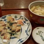 鮨と麺 うまい門 - バッテラとうどんのセット