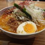 とり田 - とり田水炊き担々麺(激辛)(4回目)