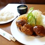 トニオ - 料理写真:2015年1月 ミンチカツ定食【850円】