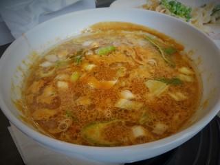 一閑人 - ハバネロつけ麺のつけスープ