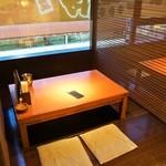 和楽  - 4人掛けテーブル席