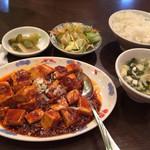 39281450 - 麻婆豆腐のランチ。