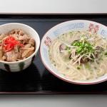 パピヨン亭 - 牛丼(ミニ)+ラーメン