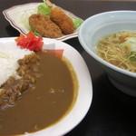 茶山亭 - ガッツリ定食800円