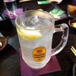炭火焼鳥あずま - レモンサワー