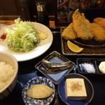 山田屋食堂 - ミックスフライ定食
