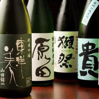 種類豊富日本酒は50種以上取り揃え!