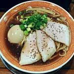 麺や 西や - 【中華そば (太麺) + 味付き煮玉子】¥600 + ¥100
