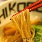 鶏そば十番156 - 中細ストレート麺