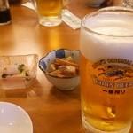 食彩食道とび田 - (2015/6)生ビール&お通し