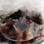 豆家 茜 - 『朱華』という氷ぜんざい500円。大粒の小豆が沢山入っていて、食べ応えがあります。