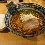 麺屋 黒船 - 味噌ラーメン 650円半ライス付き