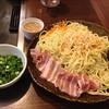 もんじゃ横丁 - 料理写真:豚骨青ネギ焼きそば750円