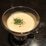 鉄板焼 grow - トマトとコーンの冷製スープ