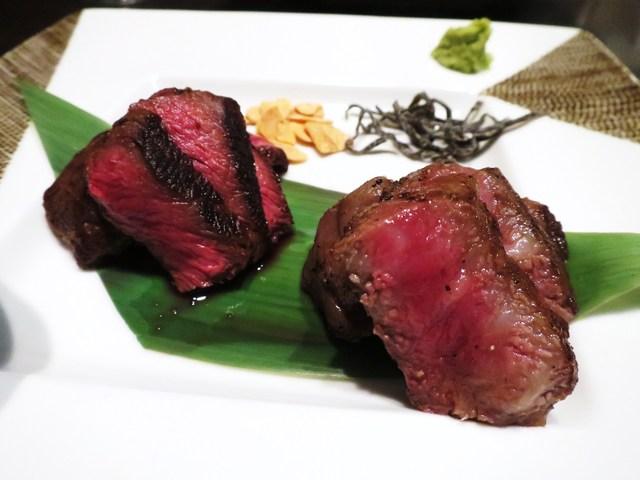 鉄板焼 grow 六本木店 - 千屋牛ステーキ  サーロイン、しんたま